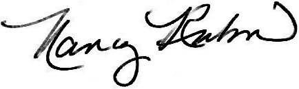 nancy rubin signature