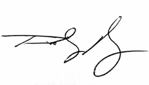 Tim Myers signature